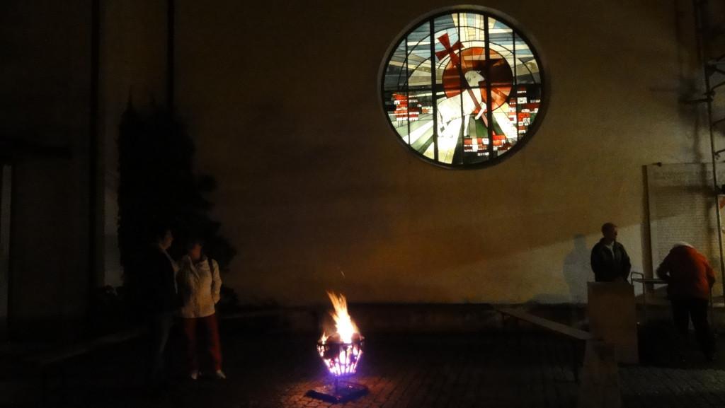 Feuerstelle im Pfarrhof
